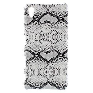 Sony Xperia Z5 Handy Tasche Schale Snake Textur Schlange Muster Skin Hülle Weiss