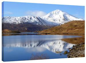 Gairich Munro Loch Quoich Scottish Highlands Lake Canvas Wall Art Picture Print
