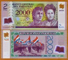 Paraguay 2000 (2,000) Guaranies 2011, POLYMER P-228c C-Prefix, UNC