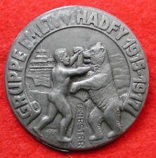 AUSTRIA KAPPENABZEICHEN W.W.I GRUPPE FMLT v. HADFY 1915/1917 DNIESTER GALIZIA #1