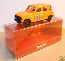 MICRO HERPA HO 1/87 RENAULT 4 BERLINE 4L R4 AUTOROUTE in BOX