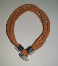 Ladies Orange Four Strand Leather Bracelet