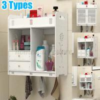 Bathroom Wall Mounted Storage Shelf Cabinet Toilet Cabinet Bath Holder Rack Home