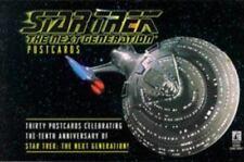 STAR TREK THE NEXT GENERATION TNG POSTCARD BOOK 10TH ANNIVERSARY 30 1997