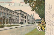 NR. 23575 PK  Gruss aus München Residenz 1904 nach Böckstein Salzburg