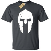 Spartan Helmet MENS T-shirt bodybuilding mma gym fitness training workout top