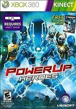 PowerUp Heroes  (Xbox 360, 2011) KINECT REQUIRED FREE COMIC BOOK INSIDE