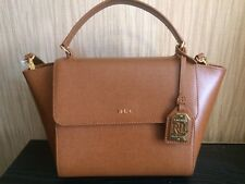 Lauren Ralph Lauren-Barclay Leather Crossbody Bag Tan- RRP £210- BNWT