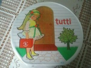 VINTAGE TUTTI 1965 ROUND CARRYING CASE #5016