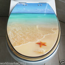 New High-quality Thicken Ocean Beaches Draw Resin UVO Bathroom Toilet Seat