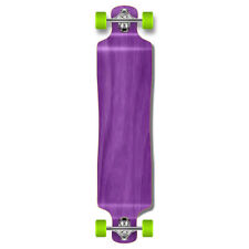 Punked Lowrider Drop down through Longboard Complete skateboard Stained wood
