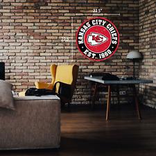 "Kansas City Chiefs 22"" Round PVC Distressed Logo Wall Sign"