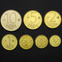 [B-5] Bulgaria Set 7 Coins, 10 20 50 Stotinka +1 2 5 10 Lev, 1992, UNC