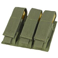 Condor MA52 MOLLE Modular Closed Top Triple Pistol Magazine Pouch - OD Green