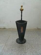 Antique Wrought Iron&Brass Tup   Umbrella Stand  Cane Holder