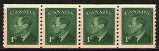 Canada 1950 Sc295 $ 2.6  Mi256D 2.8 MiEu  1 Strip of 4  mnh  George VI