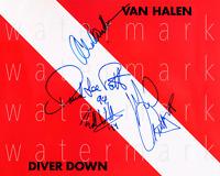 """Eddie Van Halen Diver Vinyl signed 8""""X10"""" print photo poster pic autograph RP"""