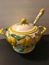 Temp-tations Lemon Design Soup Tureen With Matching Ladle