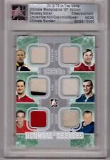 CROZIER GLENN HALL CHEEVERS VACHON BOWER GIACOMIN /13 ITG Ultimate Jersey SP /24