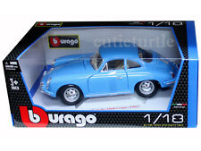 Bburago 1961 Porsche 356B Coupe 1:18 Diecast Model Car 18-12026 Blue