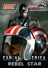 CASCO JET VINTAGE STYLE ORIGINE REBEL STAR CON VISIERA SCURA A SCOMPARSA