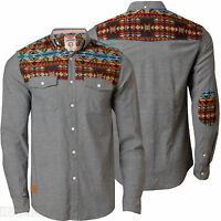 Mens Shirt Tokyo Laundry Full Sleeve Denim Chambray Cotton Cord Collared 1H 2761