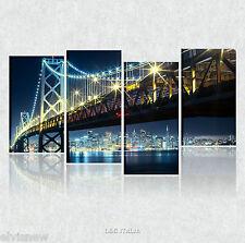 NEW YORK Quadri moderni stampa su tela 90x45 cm città famose ponte brooklyn