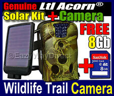 Ltl Acorn 12MP 940NM Trail Farm Security Night Camera + Solar Panel + FREE 8GB