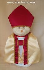 NEW BISHOP LINDON JOINTED TEDDY BEAR–16INCH / 40CM TALL RRP £75 ON OFFER AT £60