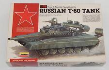 LINDBERG 1/35th RUSSIAN T80 TANK PLASTIC MODEL KIT #76004 NIOB