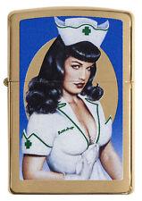 Zippo Olivia Bettie Page Nurse auf Wunsch mit pers. Gravur Neu 60003936
