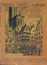 Affiche Originale Hansi 1917 Banque d'Alsace et de Lorraine
