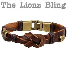 Urban Vintage style Genuine Brown Knotted Leather Bracelet