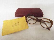 VINTAGE 1950 S doppio filamento occhiali con custodia e panno polvere occhiali da vista Frames.
