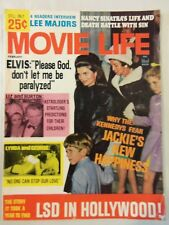 VINTAGE 1967 MOVIE LIFE MAGAZINE ELVIS LIZ TAYLOR JACKIE KENNEDY
