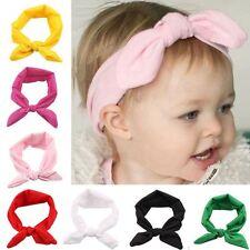 Girls Toddler Baby Stretch Rabbit Bow Hairband Headband Turban Knot Head Wraps