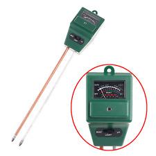 3 in 1 PH Tester Soil Water Moisture Light Luxmeter Test Meter for Plant Flower@