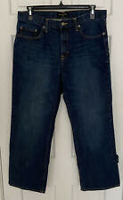Banana Republic Mens Denim Jeans Dark Blue Straight Cut Size 36 X 30