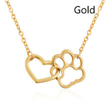 Charm Women Dog Claw Necklace Sexy Girls Gold Heart Pendant Jewelry Accessories