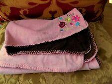 Koala Baby Chirp Bird Blanket Pink Brown Soft Minky Flowers Security Lovey