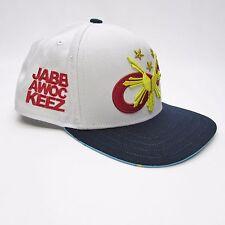 Jabbawockeez Ltd. Edition Flat Fitty Logo White Snapback Cap Baseball Hat, ABDC