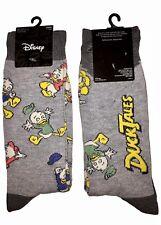 New Disney's DUCKTALES Mens Novelty Crew Socks With HUEY, DEWEY & LOUIE