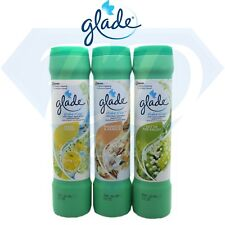 3 x Glade Shake And Vac Vanilla/ Lily/ Lemon Carpet Freshener Spray Powder 500g