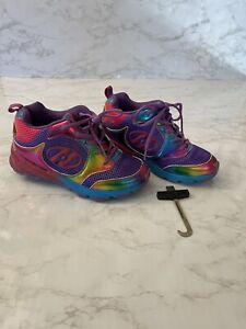 Heelys: Youth Size 2 Purple Rainbow Skate Shoes