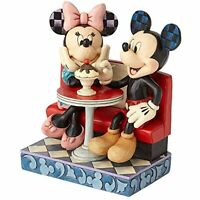 Jim Shore Disney Traditions Mickey & Minnie Mouse Soda Shop Figurine 4059751