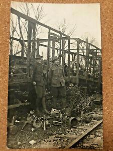 WW1 AIF MATES IN FRANCE 1919 POSTCARD