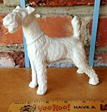 Vintage Detailed Porcelain Augarten Sparring Airedale Or Fox Terrier Type Dog!