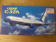 "1:144 minicraft # 14451 usaf c-32a. ""legends of aviation."" Game. EMB. orig"