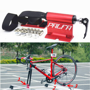 Red Aluminum Bike Fork Wheel Mount Bicycle Car Roof Rack Carrier Latch Lock Kit