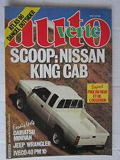 AUTO VERTE 4X4 N° 60 /NISSAN KING CAB/DAIHAITSU MINIVAN/JEEP WRANGLER/IVECO PM10